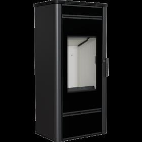 Stalowy piec typu koza Titan Glass 11 kW