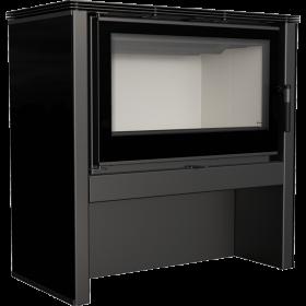 Piec wolnostojący stalowy panel czarny JUNO 12